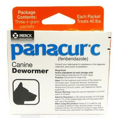 Panacur C Canine Dewormer Dog Roundworm Hookworm Tapeworm Whipworm Treatment