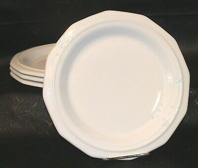 """PFALTZGRAFF WHITE HERITAGE 4 DINNER PLATES 10 1/4"""" Made in USA"""