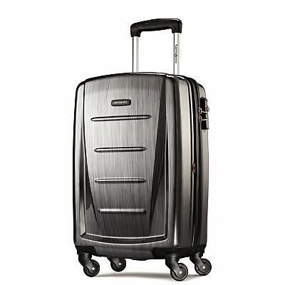 """Samsonite Winfield 2 Fashion 20"""" Carry On Spinner Luggage in Charcoal"""