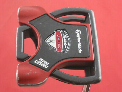 """Taylormade Itsy Bitsy Spider Limited Edition 35"""" Putter Black / Red Average/Good"""