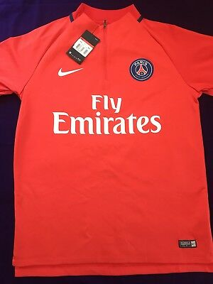 78bfd6fba41 NIKE AUTHENTIC PSG TRAINING SHIRT DRY SQUAD DRILL MENS FOOTBALL TOP Sz L