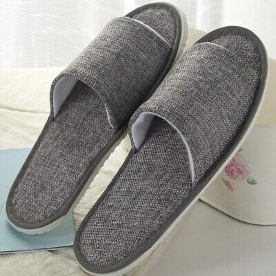 Open Toe Breathable Hotel Slippers Spa Guest Disposable Shoes Travel One Size