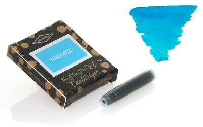 Diamine - Standard Cartouches d'encre, Turquoise 6 cartouches