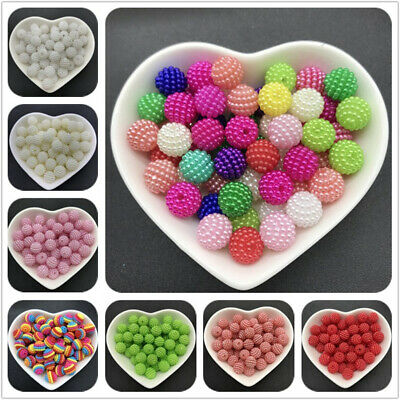 50pcs 10mm Bayberry Beads Round Loose Beads Fit Europe Beads Jewelry Making