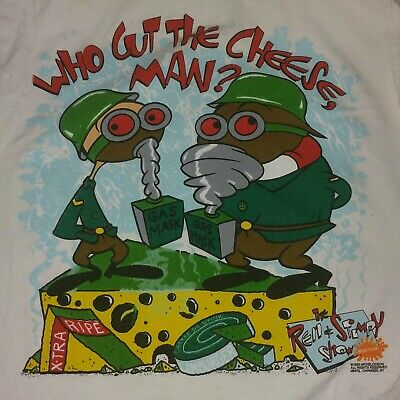 af7a1182 The Ren and Stimpy Show Shirt Classic Vintage Nickelodeon 90s L RARE FUNNY  FARTS
