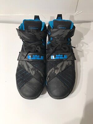 save off 904a6 3e223 Nike LeBron Soldier IX 9 Premium Soar Size 11.5 Blue Black 749490-014