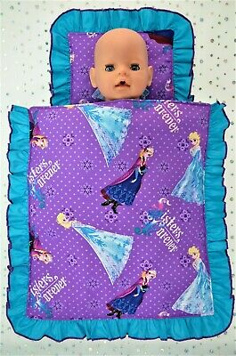 "Play n Wear Doll Clothes 17"" Baby Born & 16"" Cabbage Patch PILLOW & QUILT SET"