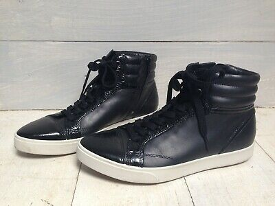 ECCO Black Leather Hi-Top Sneakers Made in Portugal - Size 37