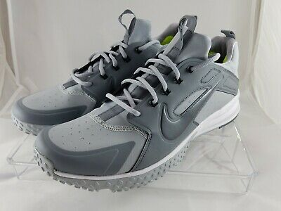 100d115b1 Nike Alpha Huarache Gray Metallic Baseball Turf Shoes Size 13 923435-002