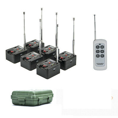 6 Cue Remote Wireless Fireworks Firing System Four Modes+Case+6 pcs igniters