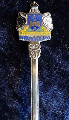 Canberra coat of arms enamelled Vintage spoon teaspoon