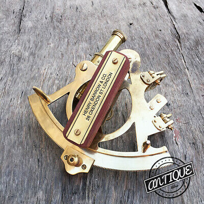 Telescope Lens Sextant Antique Style Vintage Tool Astrolabe Compass With Saxtant