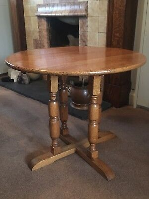 Original 1940s CC41 Utility British Solid Oak Side Table • WW2