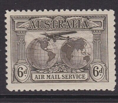 Australia Pre Decimal 1931 6D Sepia Kingsford Smith Airmail Mint/Mlh (Hd218 )