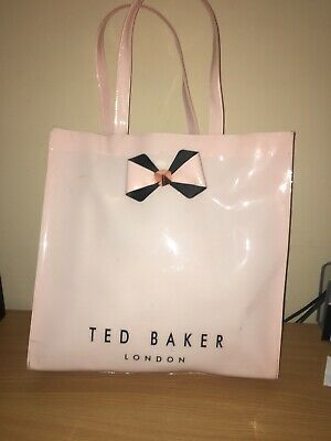5a710e1044 GENUINE TED BAKER Large Red Glitter Scalloped Iconic Bow Tote PVC ...