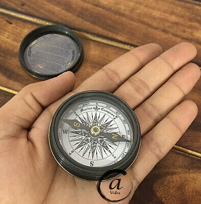 Compasses For Camping/Hiking Brass Handy Pocket Sporting Goods Trekking Compases