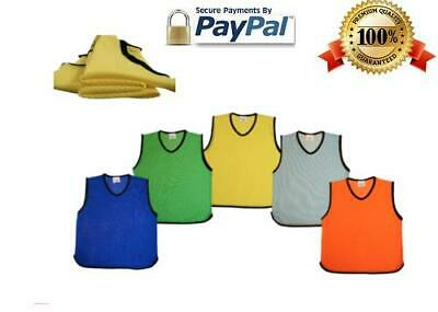 Premium Mesh Training Bibs Football Rugby Cricket Soccer Adult Youth Kids Sizes