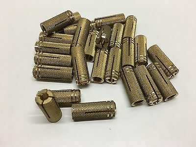 Set of 25 Ankle Slogging Brass to Expansion Hel M8 or M6
