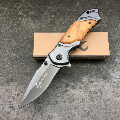 Browning Outdoor Survival Camping Tactical Hunting Folding Pocket Knives FROM AU