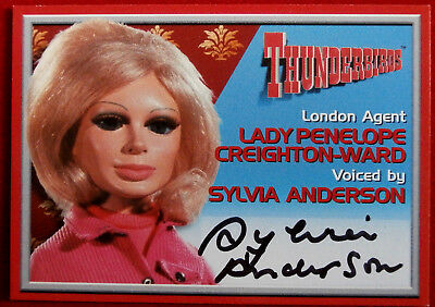 Thunderbirds - SYLVIA ANDERSON, Lady Penelope - Autograph Card - Cards Inc 2001