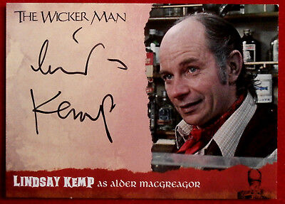 THE WICKER MAN - LINDSAY KEMP - Autograph Card - WMLK - Unstoppable Cards BOWIE