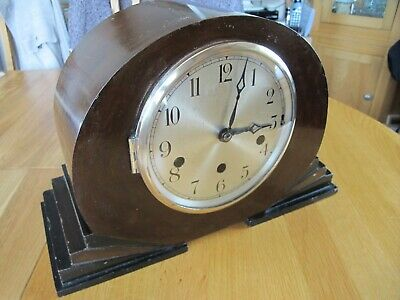 Westminster Chime Mantel Clock Working With Key.