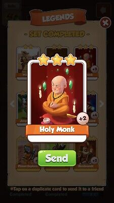 Coin Master Holy Monk X1 (Rare Card) !!!Super Quick Dispatch!!!