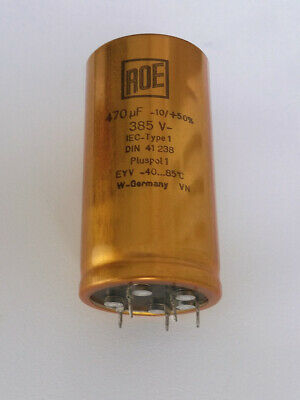 Electrolytic Capacitors ROE EYV | 220uF, 470uF 385V | Long Life | High End Audio