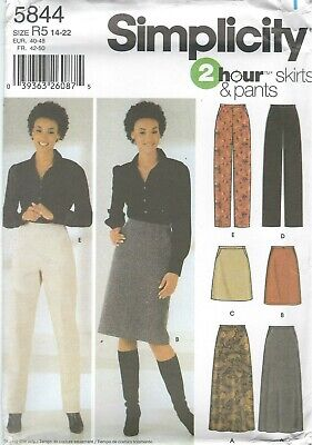 Simplicity 5844 Misses' Skirts & Pants 14 to 22 *Compare $10.98   Sewing Pattern