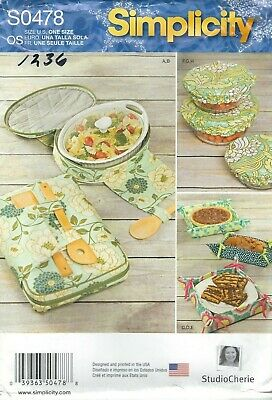 Simplicity 1236 Casserole Carriers, Baskets and Bowl Covers    Sewing Pattern