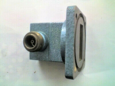 MARCONI WR112 WAVEGUIDE TO N COAXIAL ADAPTOR Model 6037/4 7.05 to 10 GHz - T.