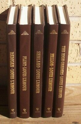 Lot of 5 Louis L'Amour Collection Leatherette Books-Stand Alone Novel Collection