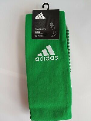 Adidas Green Football Socks Men Adult Sz 8.5-10 Soccer Rugby Hockey Sports Long