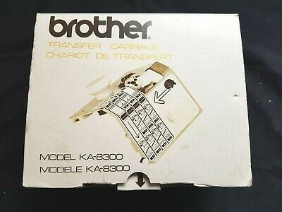 Brother Knitting Machine Part Accessories Working Ka8300 Transfer Carriage Boxed