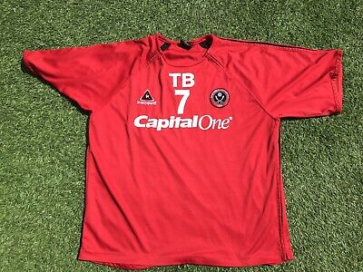 Sheffield United 2006 2007 Home #7 Player Issue Blades Football Shirt - Large