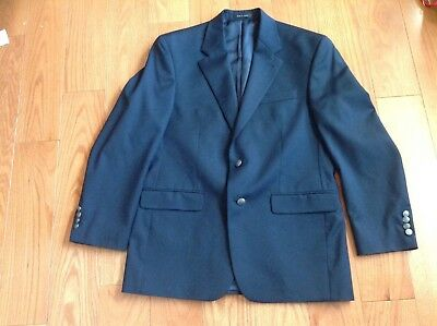 MICHAEL Michael Kors Mens Navy Wool Two-Button Blazer SPORTS COAT  40R