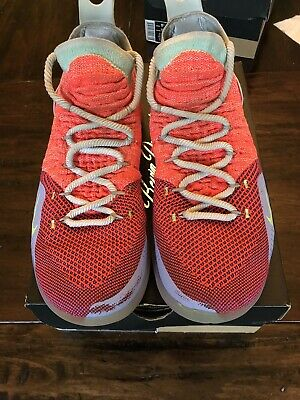 6c0bfc0a0c80 Nike Zoom KD11 EYBL Peach Jam Men s sz 9.5 Hot Punch Lime Blast AO2604-600
