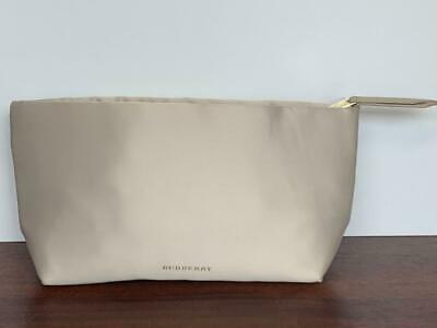 1e3528ab7af4 Burberry Beauty Beige   Tan   Nude Pouch Purse Toiletry Makeup Cosmetic Bag  NEW