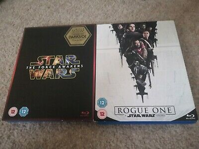 STAR WARS The Force Awakens & Rogue One Blu Ray Bundle