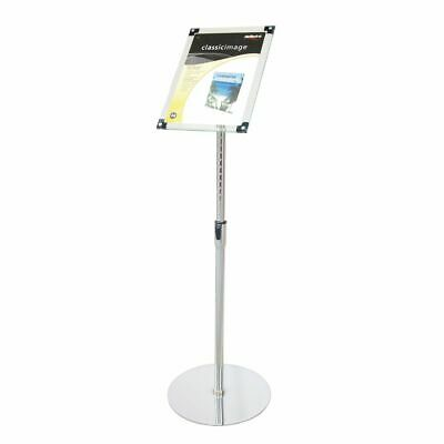 deflecto A4 Magnetic Foyer Stand Clear