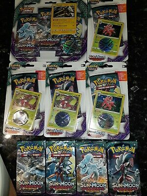 Bundle of Pokemon SUN & MOON GUARDIANS RISING TCG CARDS, BLISTER/BOOSTER PACKS