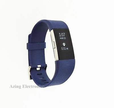 Fitbit Charge 2 Heart Rate Activity Tracker Wristband Large Blue Grade A