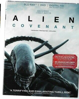New Sealed Blu-Ray DVD - Digital HD - ALIEN COVENANT - W/ Sleeve Also In French
