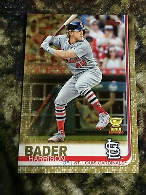 2019 Topps Harrison Bader gold parallel all star rookie SP /2019 MLB Cardinals