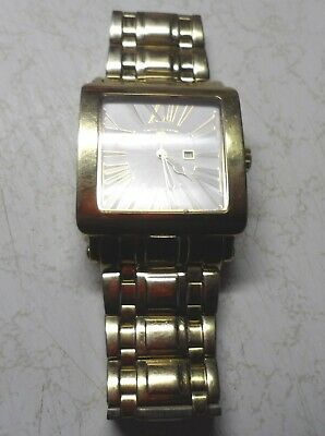 Swiss Legend Date Roman numbers watch 316L Gold on Stainless Steel