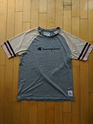 923bc98dc34c Vintage Champion Spellout Tri-Blend Varsity Tee Shirt - XL - single stitch