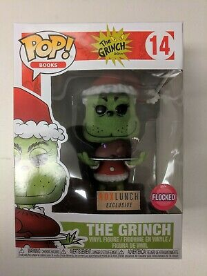 NEW - Funko Pop! - The Grinch (Flocked) - #14 Box Lunch Exclusive HTF