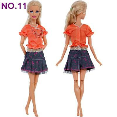 Brand new barbie doll clothes clothing clothes outfit casual skirt & top summer