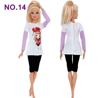 Brand new barbie doll clothes clothing clothes outfit casual pants & top summer