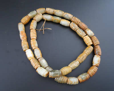 Ancient Chinese,old jade,beads,Hand woven,Prayer Necklace,Amulet Necklace,M656